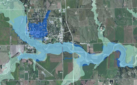 Inundation Flood Map